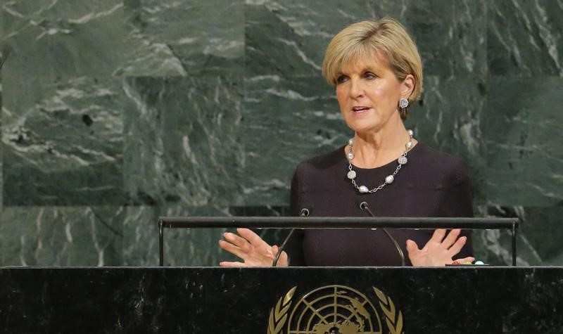 Australian Foreign Minister Bishop addresses the 72nd United Nations General Assembly at U.N. headquarters in New York