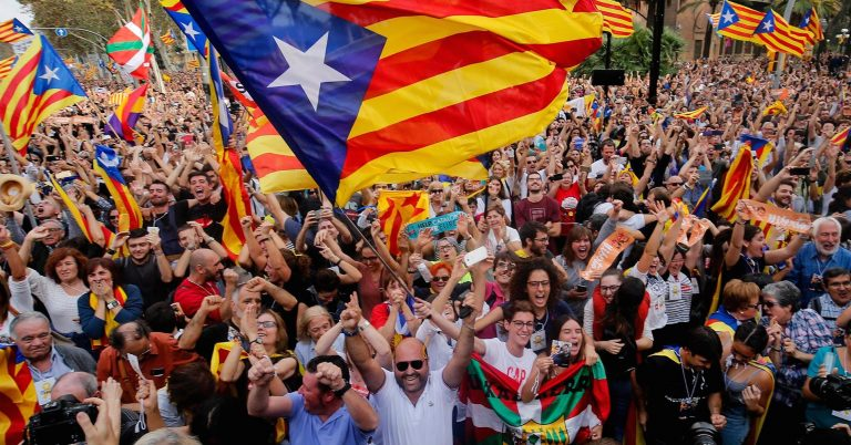 In Pictures: Catalonia celebrates declaration of independence from Spain