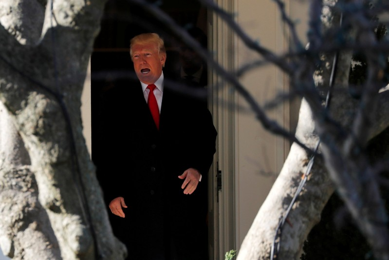 Trump departs for travel to Missouri from the White House in Washington