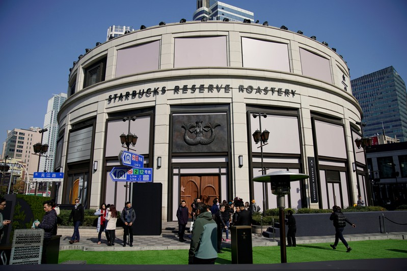 A view of the new Starbucks Reserve Roastery in Shanghai