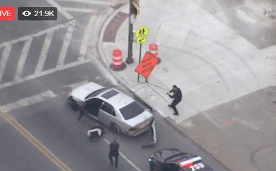 Shooting suspect in custody after dramatic police chase in Baltimore