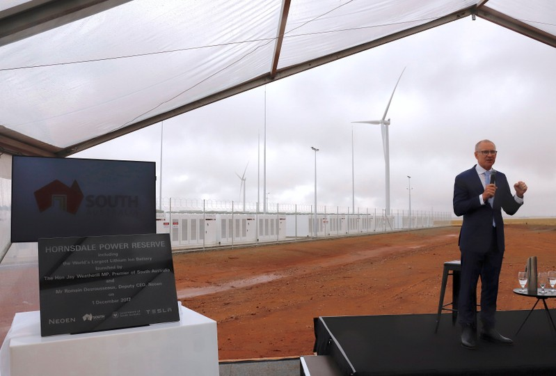 Tesla switches on giant battery to shore up Australia's ...