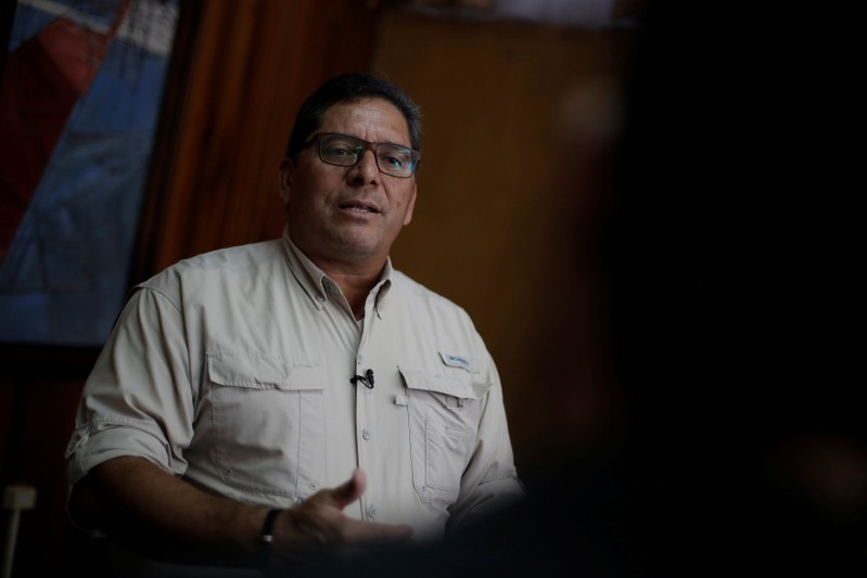Cubillo, Director of Civil Aviation Authority, speaks during a interview with Reuters in San Jose