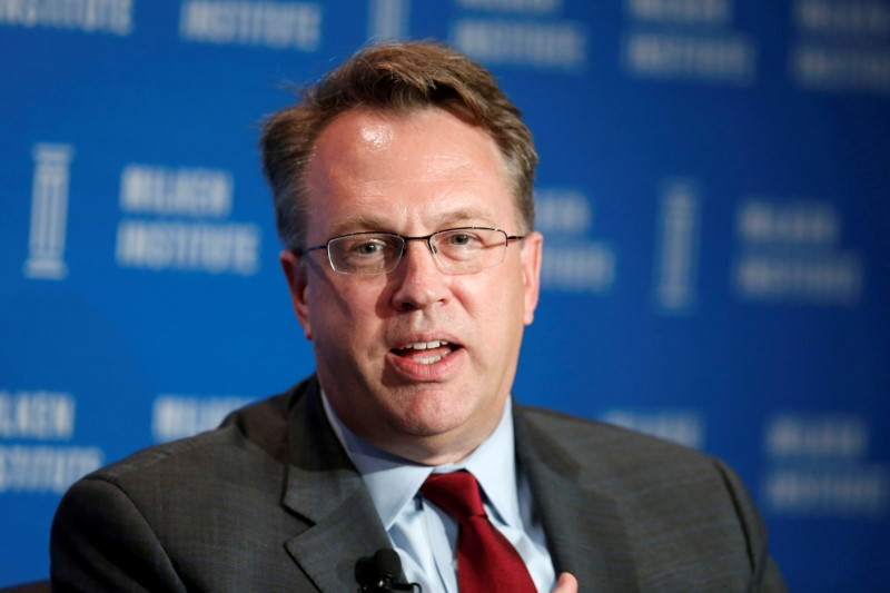FILE PHOTO - John Williams of the Federal Reserve Bank of San Francisco at the Milken Institute Global Conference in Beverly Hills