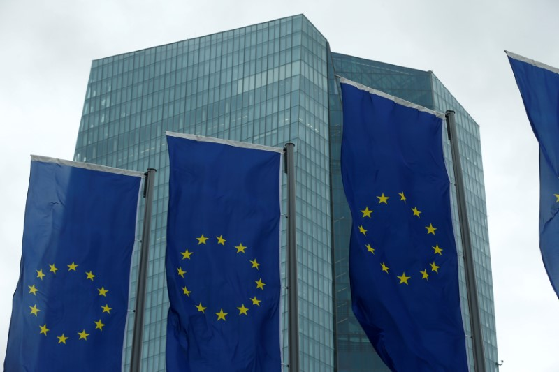 FILE PHOTO: The European Central Bank headquarters are pictured in Frankfurt