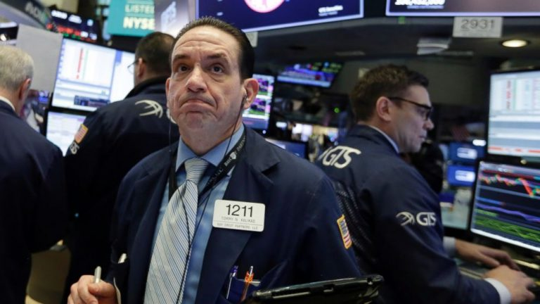 After a bad week, US stock indexes slip again, led by banks