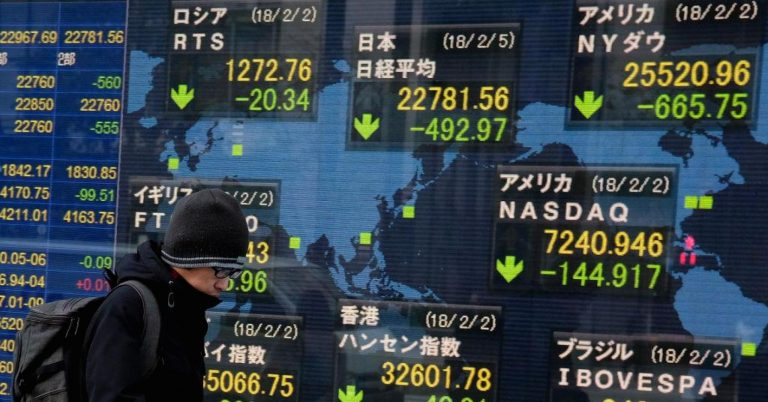 Japan's Nikkei stock index falls more than 1,000 points — about 4.4 percent