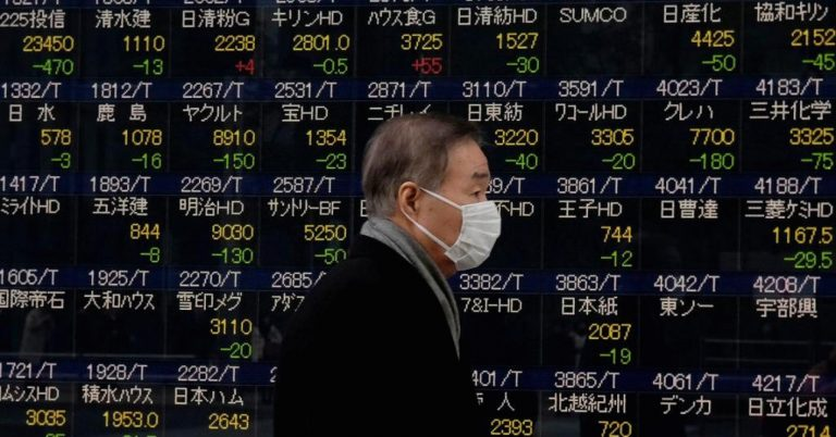 The sell-off continues into Asia after Wall Street's sharp decline; Nikkei falls 4.7%