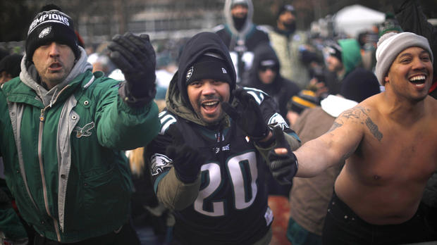 """""""This stops all the hate"""": Philly celebrates 1st Super Bowl title"""