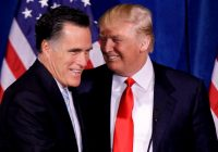 Trump voices support for Mitt Romney in campaign for Senate