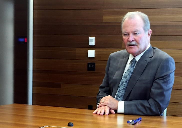 American International Group Inc. (AIG) Chief Executive Officer Brian Duperreault seen at AIG headquarters in New York
