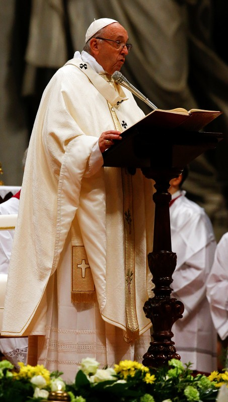 Pope Francis leads the Episcopal Ordination at Saint Peter's Basilica at the Vatican