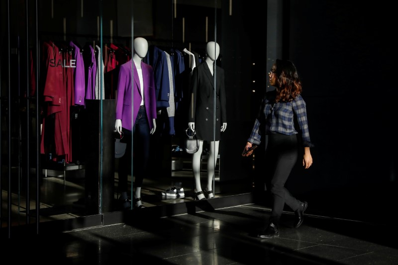 A woman shops at Brookfield Place in Lower Manhattan in New York
