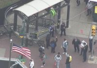 2 teens critically wounded in stabbing at train station, police say