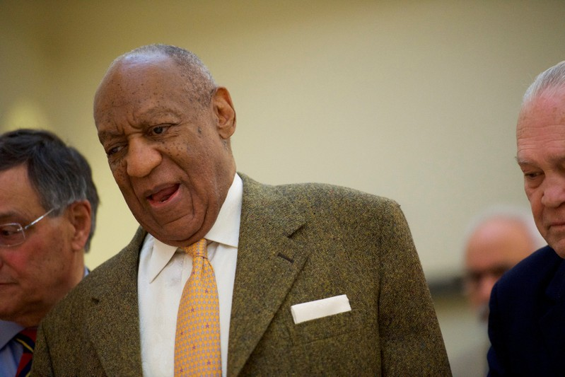 FILE PHOTO: Cosby walks to the courtroom for the fourth day of his sexual assault retrial case in Norristown