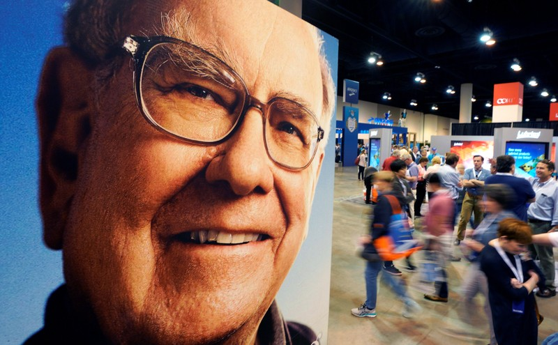 Shareholders walk through the exhibit hall at the Berkshire Hathaway Inc annual meeting, the largest in corporate America, in its hometown of Omaha