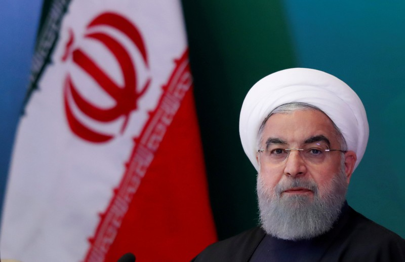 FILE PHOTO: Iranian President Hassan Rouhani on a visit to India