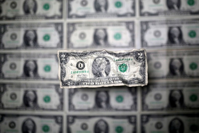 U.S. dollar banknote is seen in this picture illustration