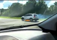 WATCH: Flames shoot out from car on the highway