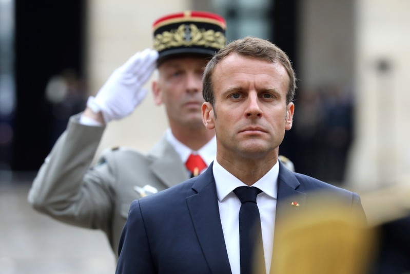 French President Emmanuel Macron attends the