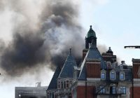 Massive fire breaks out at luxury London hotel, officials say