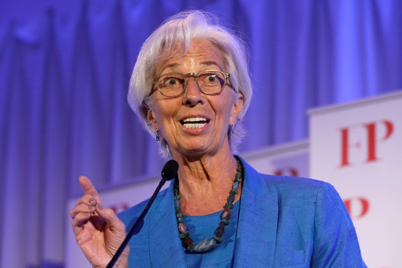 IMF Managing Director Christine Lagarde speaks at the Foreign Policy annual Awards Dinner in Washington