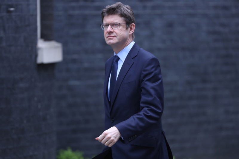 Britain's Secretary of State for Business, Energy and Industrial Strategy Greg Clark arrives in Downing Street in London