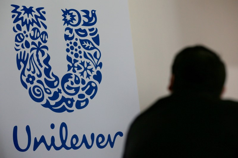 File photo of the logo of the Unilever group