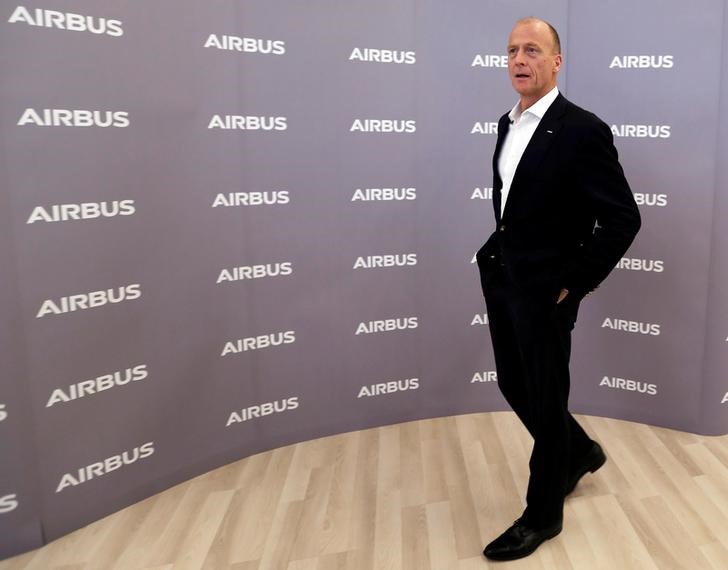 Airbus CEO Tom Enders arrives to attend Airbus annual press conference on the 2017 financial results in Blagnac near Toulouse