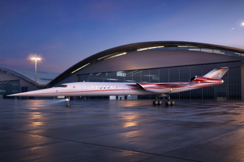 FILE PHOTO: A handout photo illustration of Aerion AS2, the world's first supersonic business jet, being developed by Lockheed Martin Corp partnering with plane maker Aerion Corp