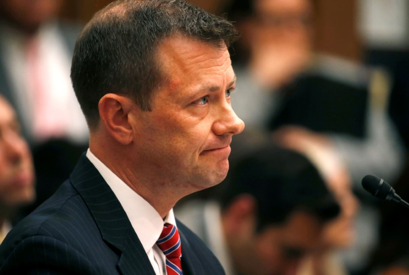 FBI Deputy Assistant Director Strzok testifies before joint House oversight hearing on Capitol Hill in Washington