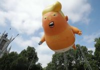London's high-flying Trump baby blimp may now be coming to New York City