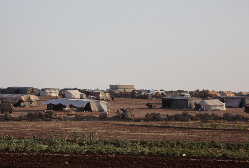 FILE PHOTO: A view of tents at a refugee camp for the internally displaced Syrians in Idlib province