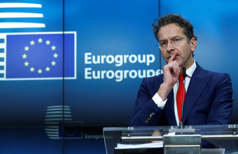 Outgoing Eurogroup President Dijsselbloem holds a news conference at the European Council in Brussels