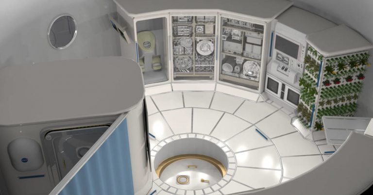 Look inside a deep space habitat for NASA to take astronauts to take to Mars