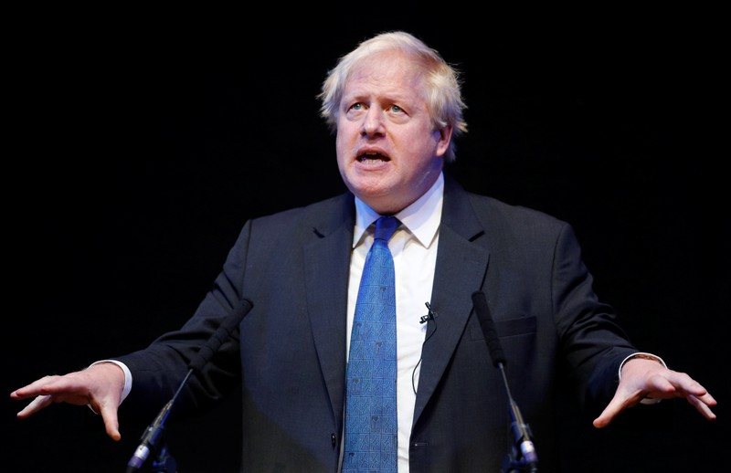 Boris Johnson speaks at the Conservative Home fringe meeting at the Conservative Party Conference in Birmingham