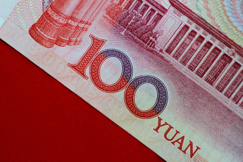 FILE PHOTO: Illustration photo of a China yuan note