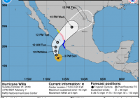 Hurricane Willa becomes Category 4 storm off Pacific coast of Mexico
