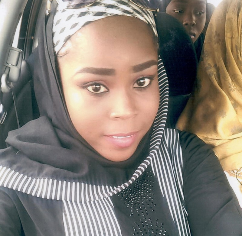 Medical worker Hauwa Mohammed Liman, who was held hostage by Islamic State in Nigeria since March, is pictured in this handout photograph