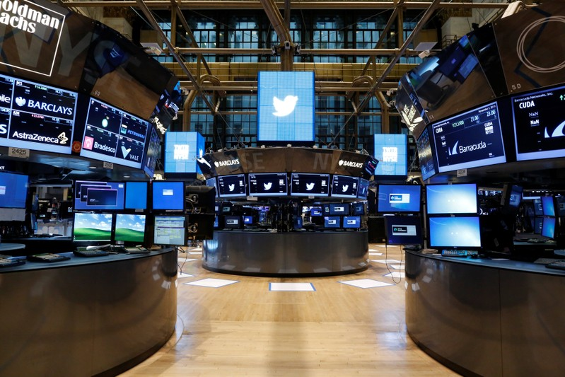 FILE PHOTO: FILE PHOTO: The floor of the NYSE stands ready for the Twitter Inc. IPO in New York