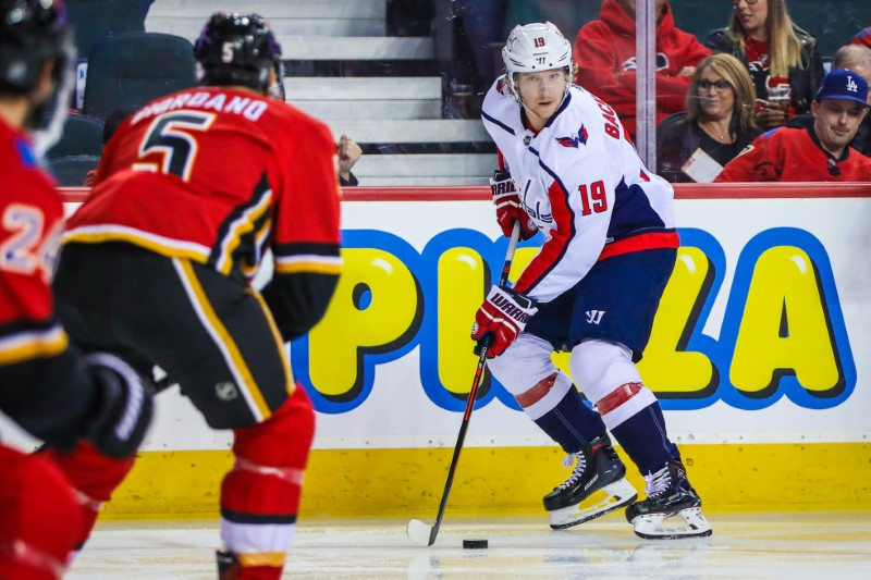 NHL: Washington Capitals at Calgary Flames