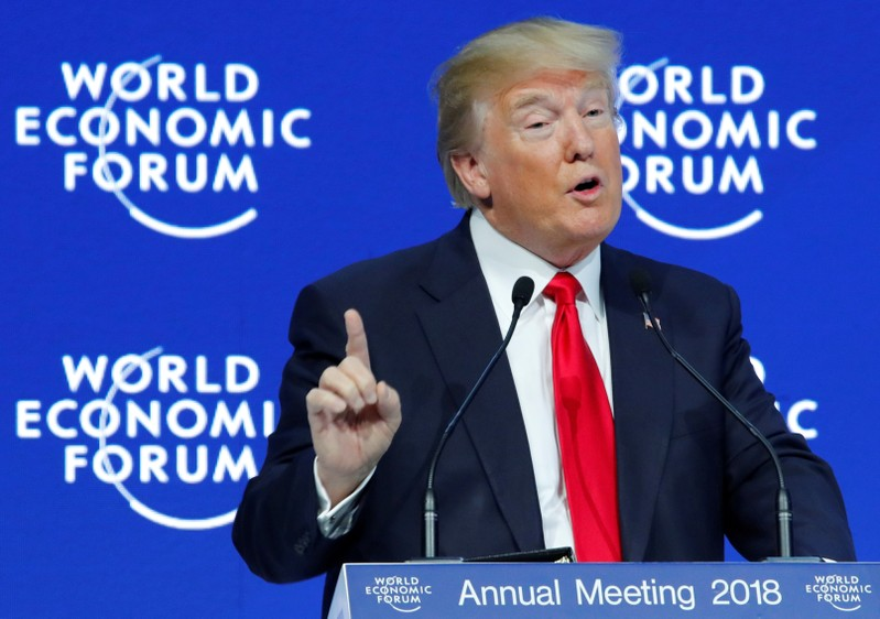 FILE PHOTO: U.S. President Donald Trump attends the World Economic Forum (WEF) annual meeting in Davos