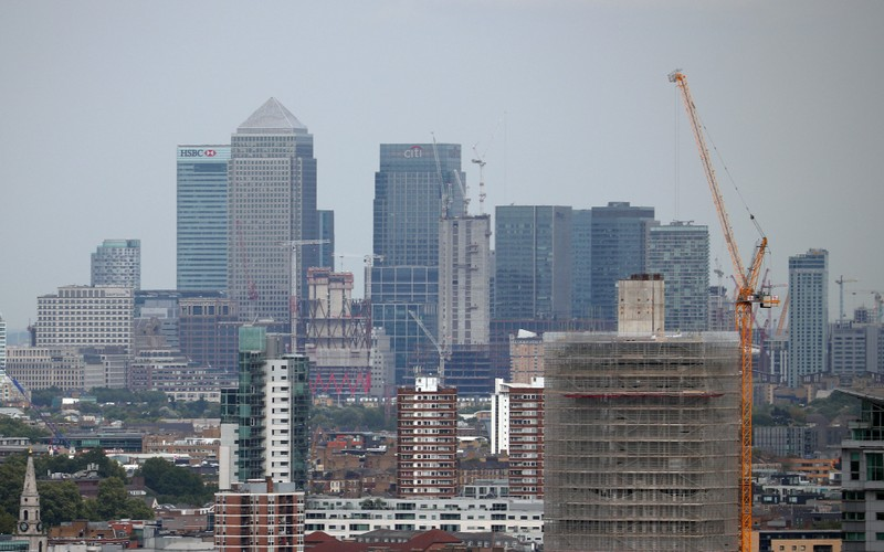FILE PHOTO: The Canary Wharf financial district is seen from the Broadway development in central London