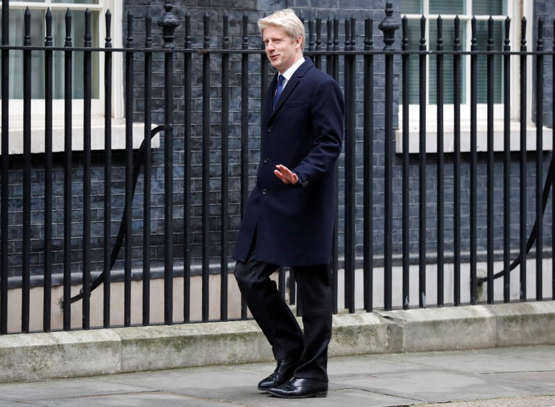 FILE PHOTO: Jo Johnson arrives at 10 Downing Street, London