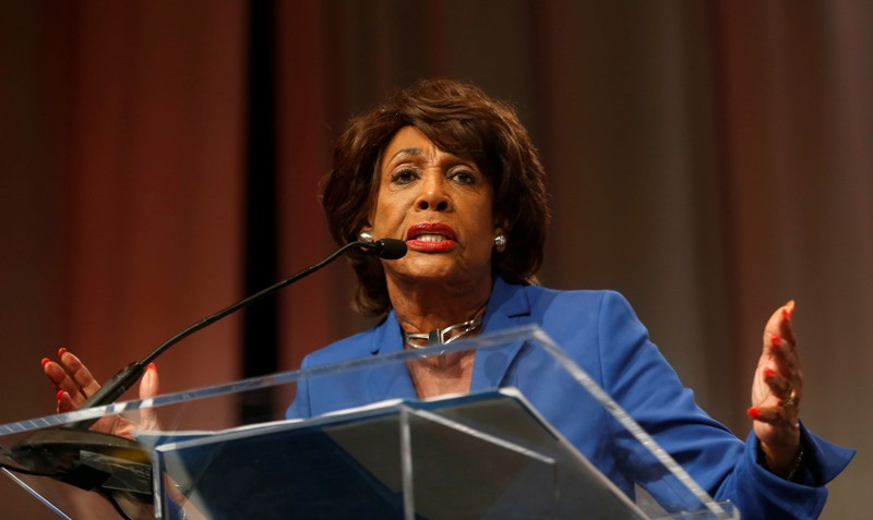 FILE PHOTO: Congresswoman Waters addresses audience during Women's Convention in Detroit
