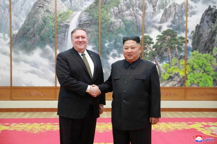 North Korean leader Kim Jong Un meets with U.S. Secretary of State Mike Pompeo in Pyongyang