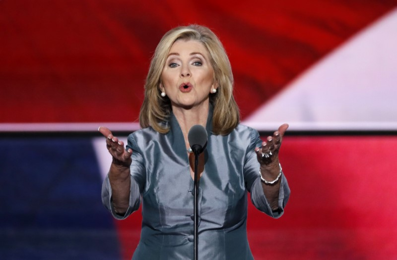FILE PHOTO: Representative Marsha Blackburn speaks during the final day of the Republican National Convention in Cleveland