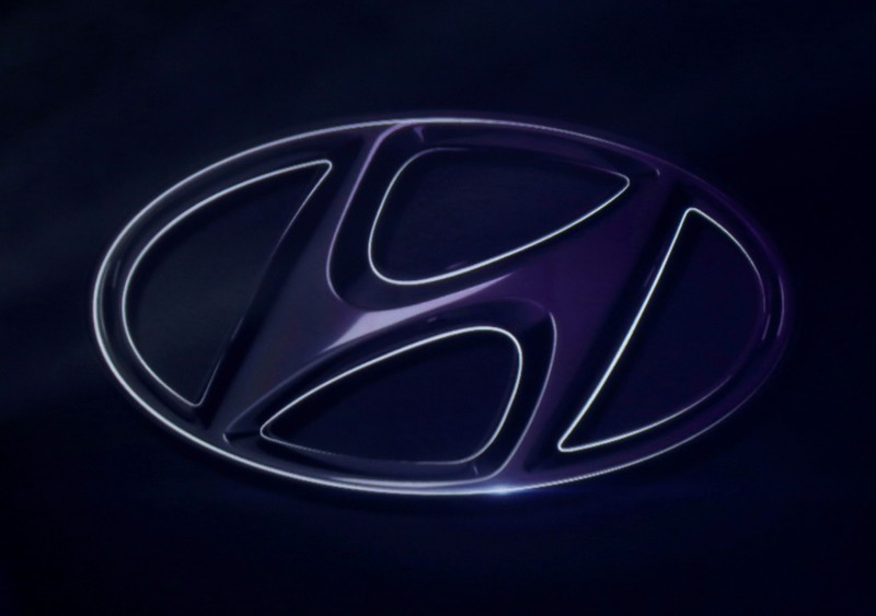 FILE PHOTO: The logo of Hyundai Motor is seen on wall at a event in Mexico City