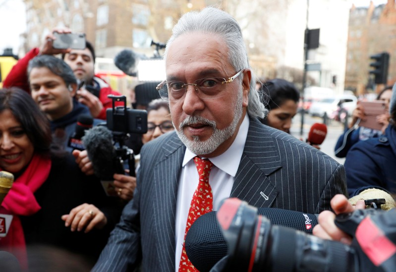 Vijay Mallya arrives to face an extradition request by India at Westminster Magistrates Court, in London