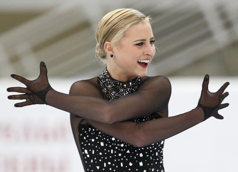 FILE PHOTO: Ashley Cain of the U.S. performs during the ladies short program at the Rostelecom Cup ISU Grand Prix of Figure Skating in Moscow